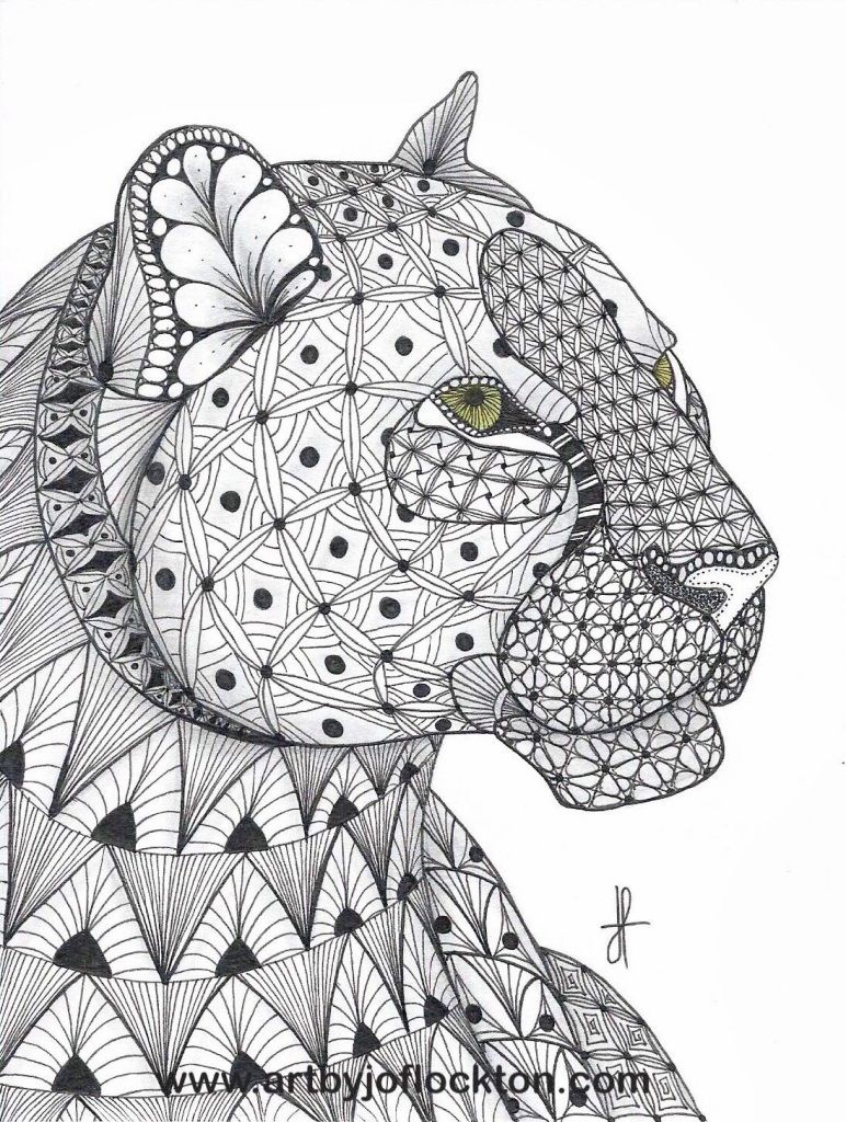 Tangled Leopard | Coloring pages, Animal coloring pages ...