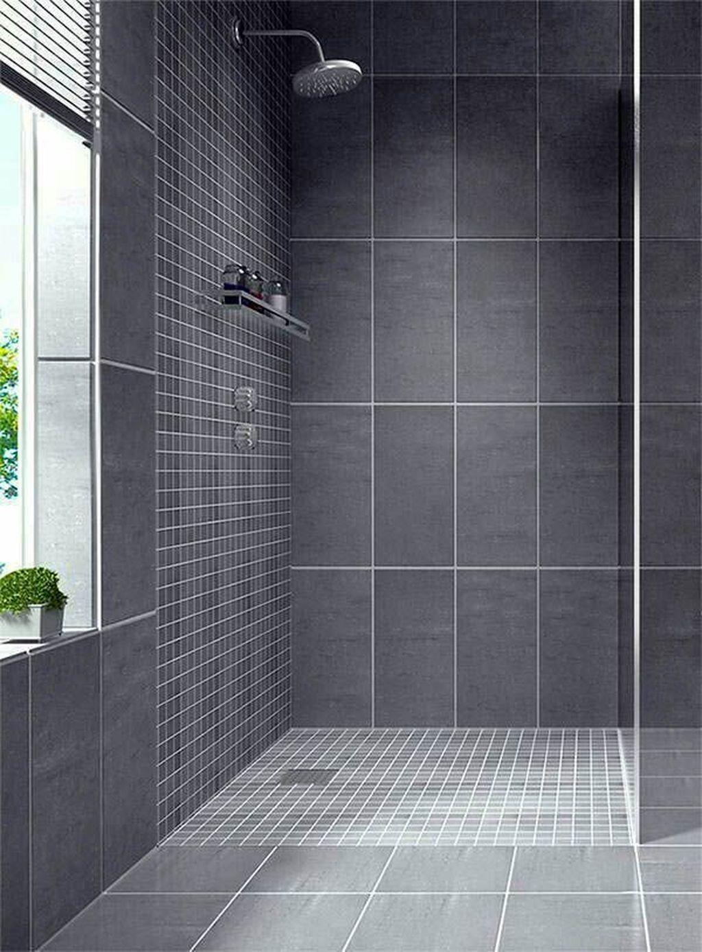 34 Lovely Bathroom Ceramic Tile Ideas You Should Copy Gray Shower Tile Bathroom Accessories Sets Tiles