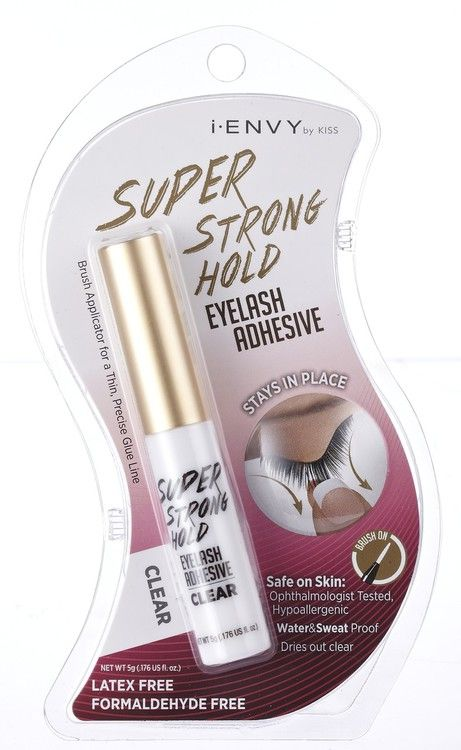 2804e605c1a Kiss i ENVY Strip Eyelash Adhesive Glue Odor Free-Jet Black, latex free eyelash  glue, eye lash glue, best eyelash glue, strong glue, super flex, Clear