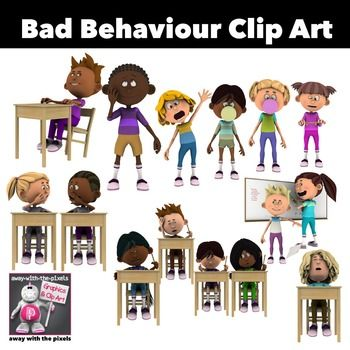 Bad Behaviour Kids Clip Art 16 Color Images | Colour ...