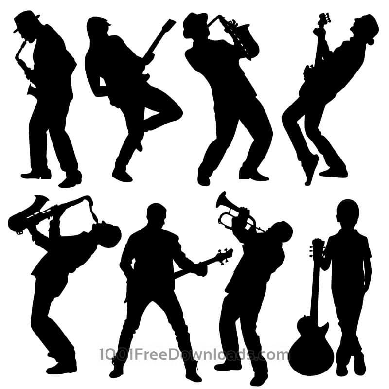 image result for musician silhouettes vector free jens party 2017