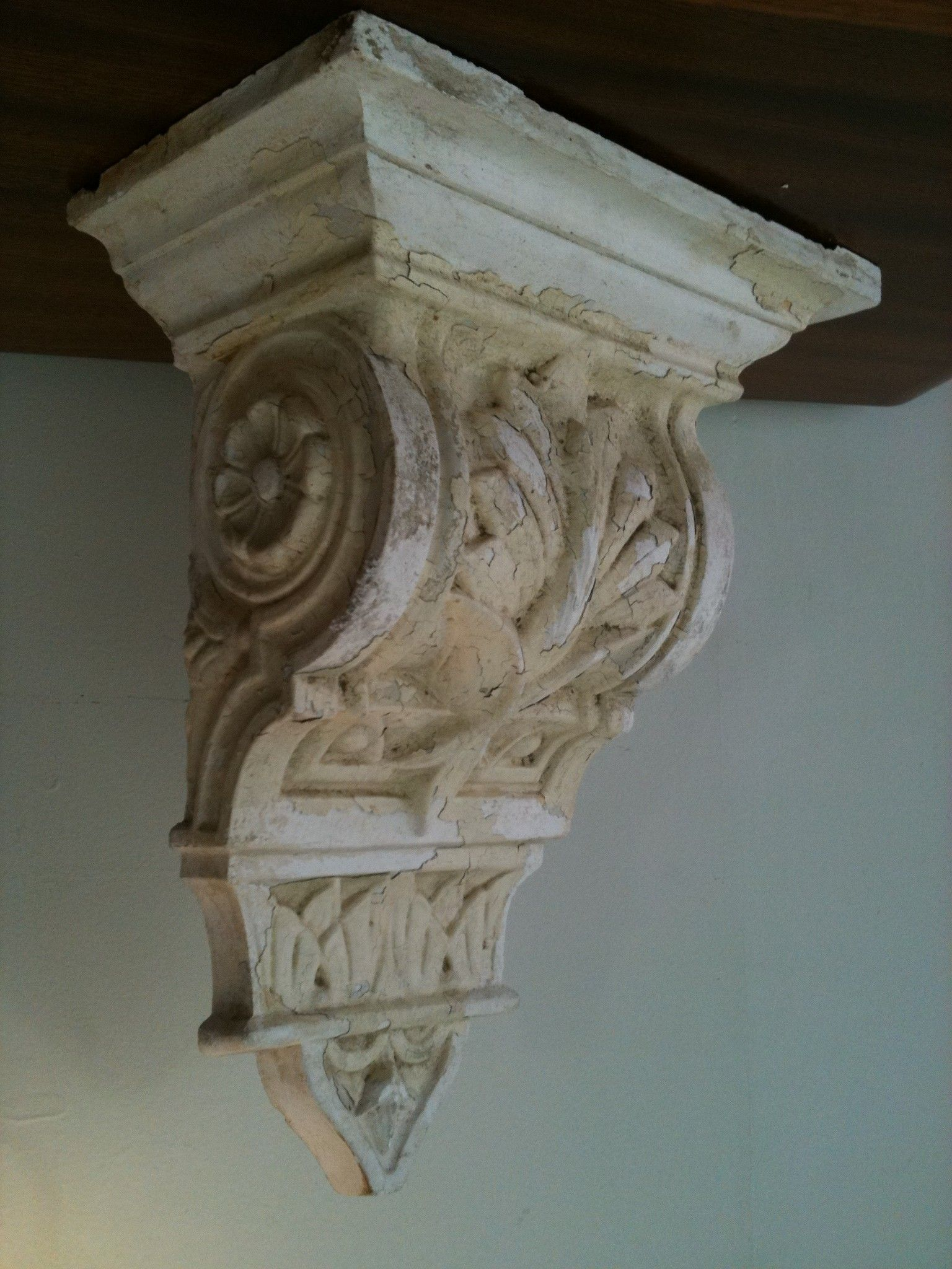 Antique plaster corbel home is where the heart is for Decorative corbels interior design