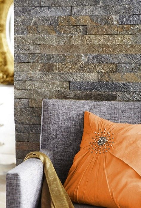 Slate Stone Julie : Sheera slate split face mosaic fireplace pinterest