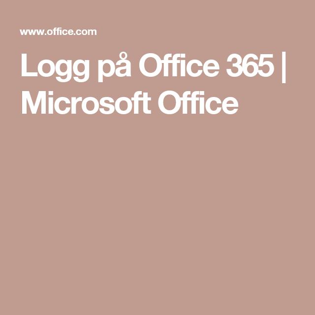 microsoft office 365 logg inn