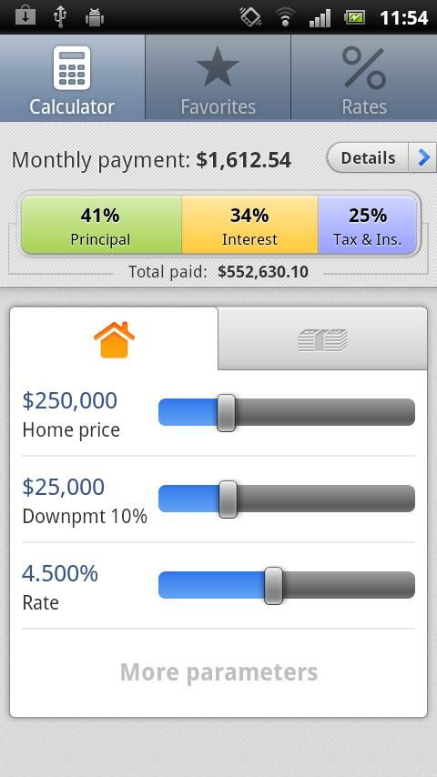 Loan Calculator Analyzer - This is the main window of Mortgage