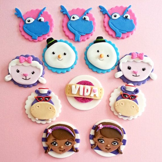 Doc Mcstuffins  fondant cupcake toppers by DsCustomToppers on Etsy, $32.99