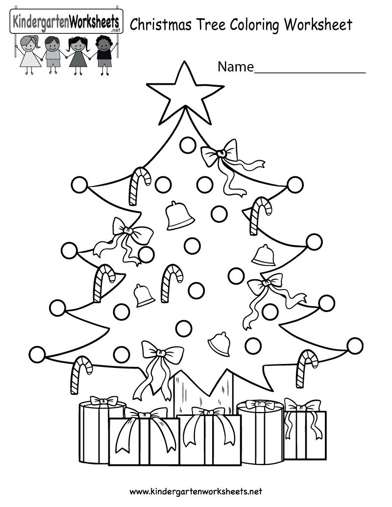 Kindergarten Christmas Tree Coloring Worksheet Printable Christmas Worksheets Christmas Worksheets Kindergarten Color Worksheets