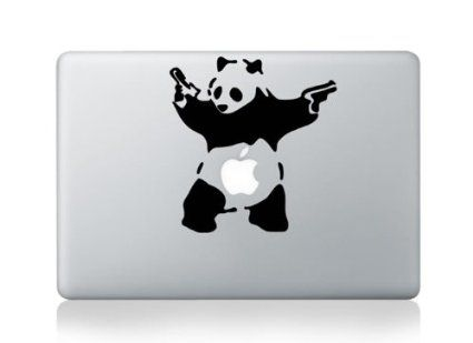 Macbook 13 inch decal sticker banksy panda with gun art for apple laptop amazon