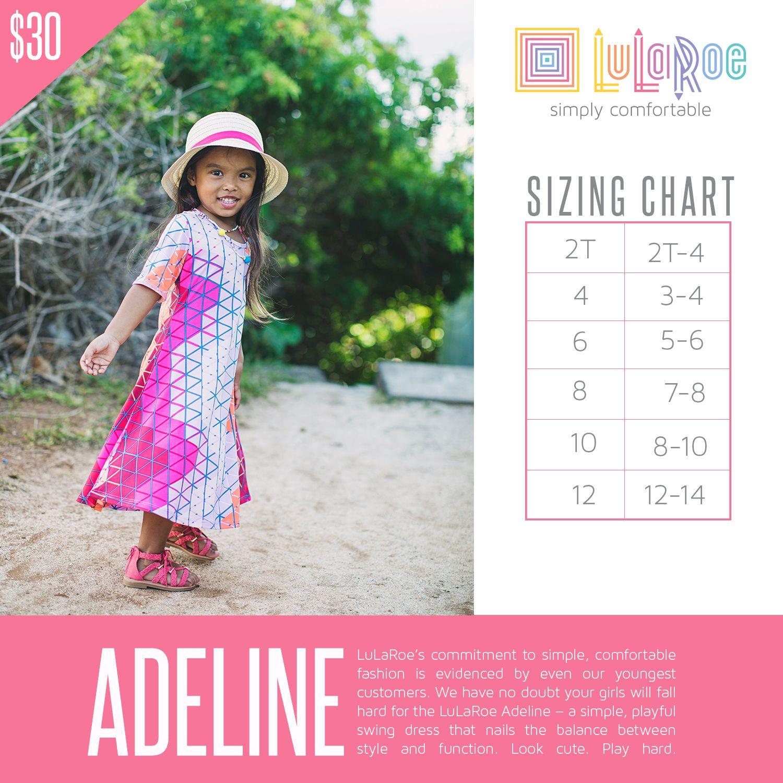 Lularoe Sizing Chart Adeline