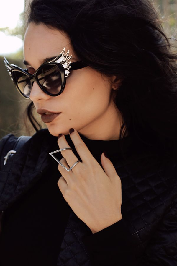 f01c24bfcac Description - Measurements - Shipping - Unique cat eye frames that features  high pointed temples creating an elegant wing silhouette.