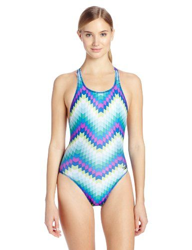 00fb0ad2103 Speedo Womens Kinetic Zag Recordbreaker Endurance Lite Swimsuit Deep 38 >>>  Check out this great product.(This is an Amazon affiliate link and I  receive a ...