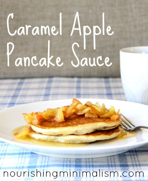 Caramel Apple Pancake Sauce Apple Pancakes Clean Eating Waffles