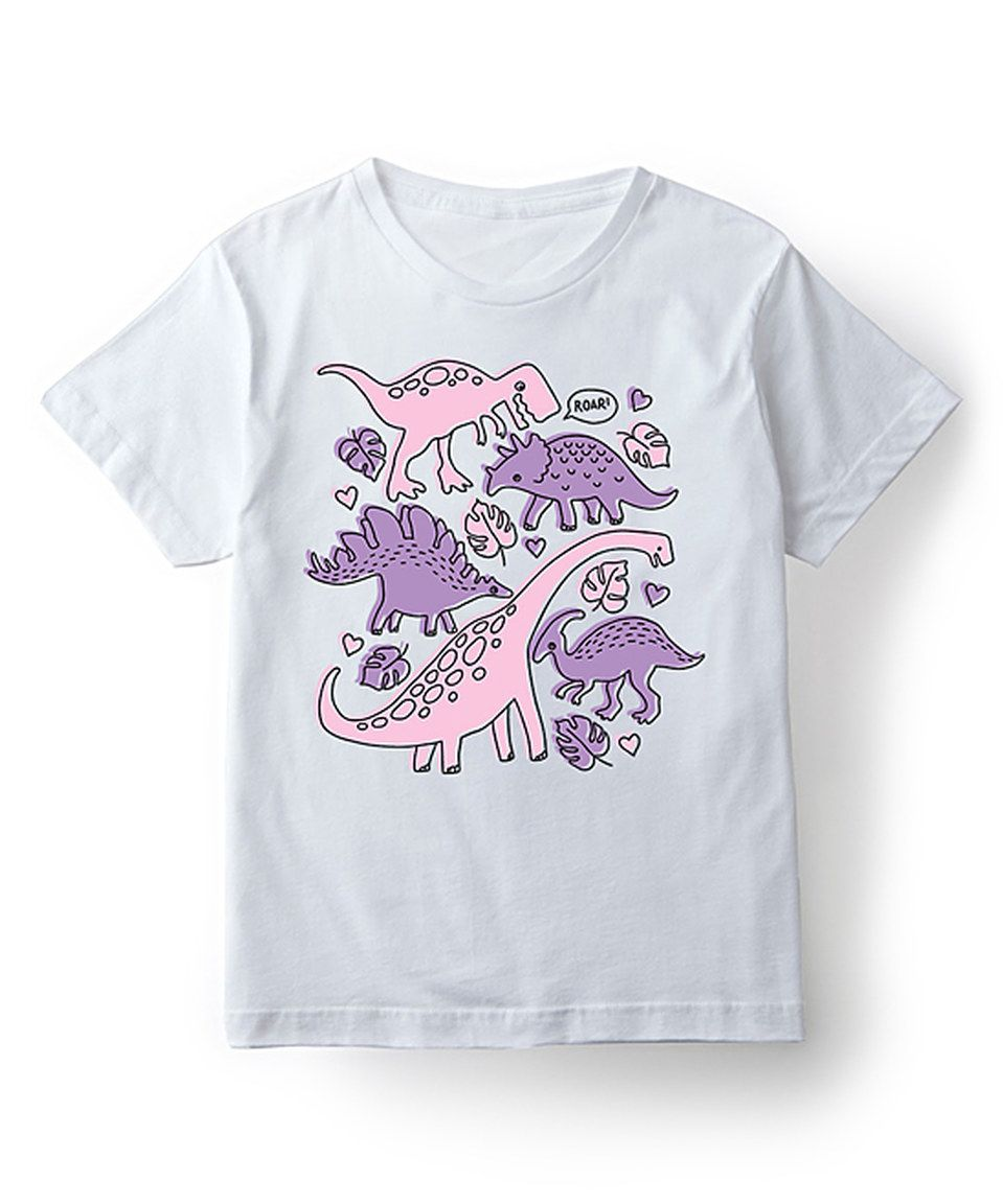 Another great find on #zulily! Cotton Jungle White Dinosaur Types Tee - Toddler & Girls by Cotton Jungle #zulilyfinds
