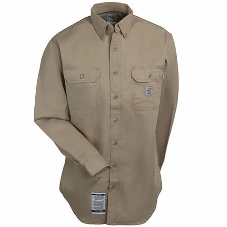 02601d8a75ae Carhartt Clothing Women s Khaki WFRS160 KHI Flame Resistant Long Sleeve  Shirt