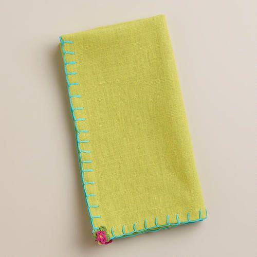 One of my favorite discoveries at WorldMarket.com: Apple Flower Crochet Napkins, Set of 4