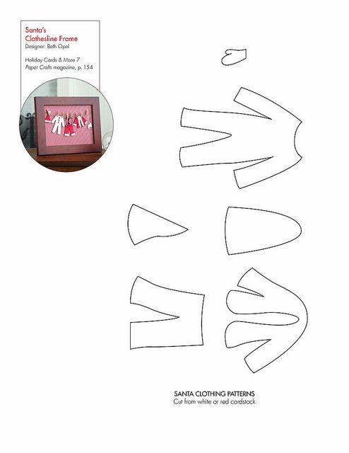 Santau0027s Clothesline #free pattern template #downloadable - bus pass template