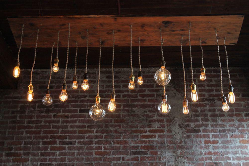 repurposed lighting fixtures. reclaimed barn wood chandelier light fixture with varying style bulbs, repurposed lighting, recycled lighting fixtures