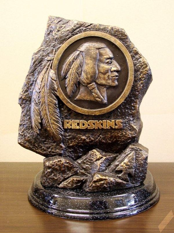 Washington Redskins Logo/Mascot Statue/Sculpture by Tim Wolfe-Desk ...