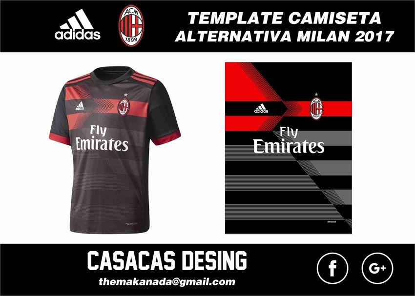 8b66de1ffc Tercera camiseta alternativa del Milan 2017 - 2018