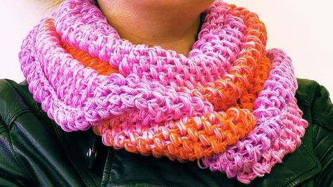 Loop Schal für den Frühling häkeln   Schal mit tollem Farbverlauf ...