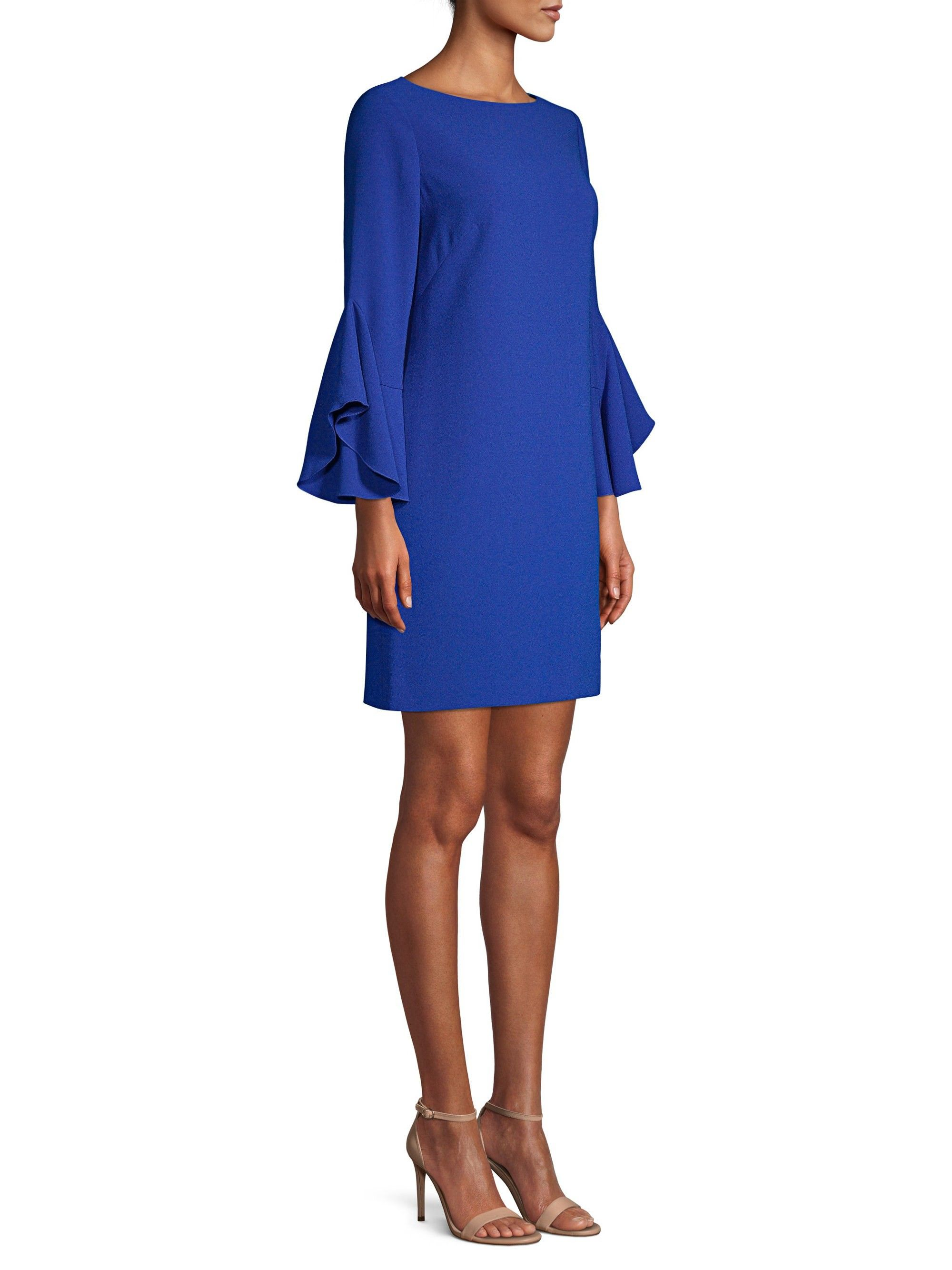 c637f78b4e80 Elie Tahari Dori Flare-Sleeve Sheath Dress - Cosmic Cobalt 14 ...