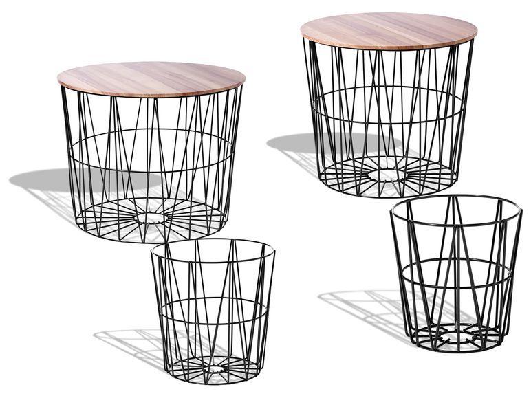 Livarno Living Beistelltisch 4er Set Tischplatten In Esche