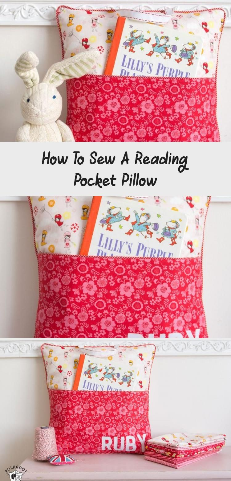 How To Sew A Reading Pocket Pillow - Knitting And Sewing