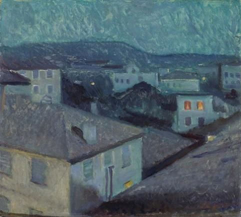 Edvard Munch - Night in Nice, 1891