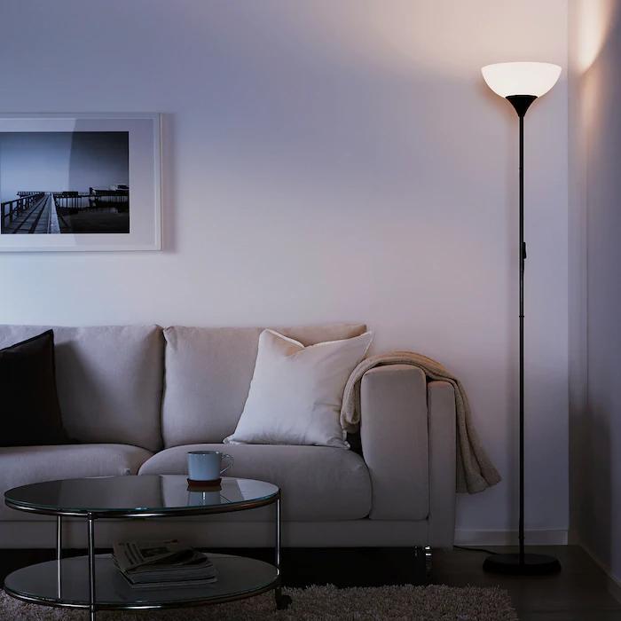 NOT black, Floor uplighter - IKEA