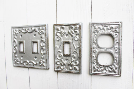 Light Switch Coverdouble Iron Switch Platesingle Switch Etsy Decorative Switch Plate Light Switch Covers Switch Plate Covers