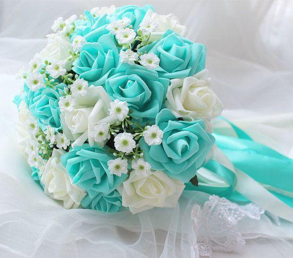 Wedding Flowers Needed While Wedding Flowers Online India Turquoise Wedding Turquoise Wedding Bouquets Flower Centerpieces Wedding