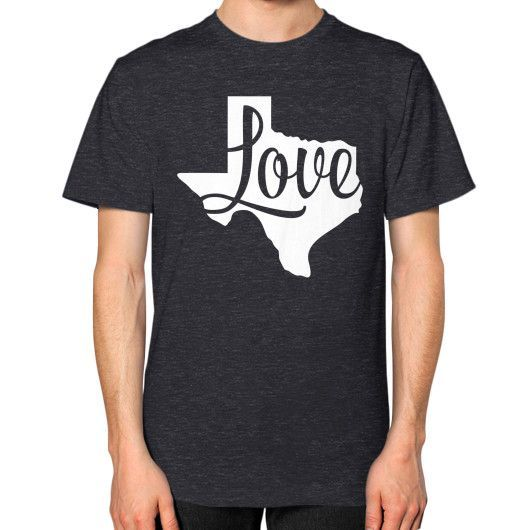 Find the best souvenirs from Texas in our little 'ol Texas store! The Love Texas shirt says a whole lot in a bold way! Show your Love for Texas with this men's and women's t-shirt. This Texas t-shirt