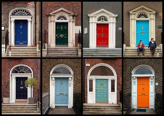Dublin Doors Red Brick House Painted Front Doors Bright Front Doors