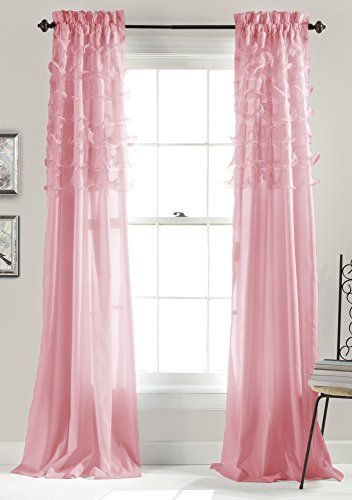 Lush Decor Avery Window Curtains 84 By 54 Inch Pink Set Of