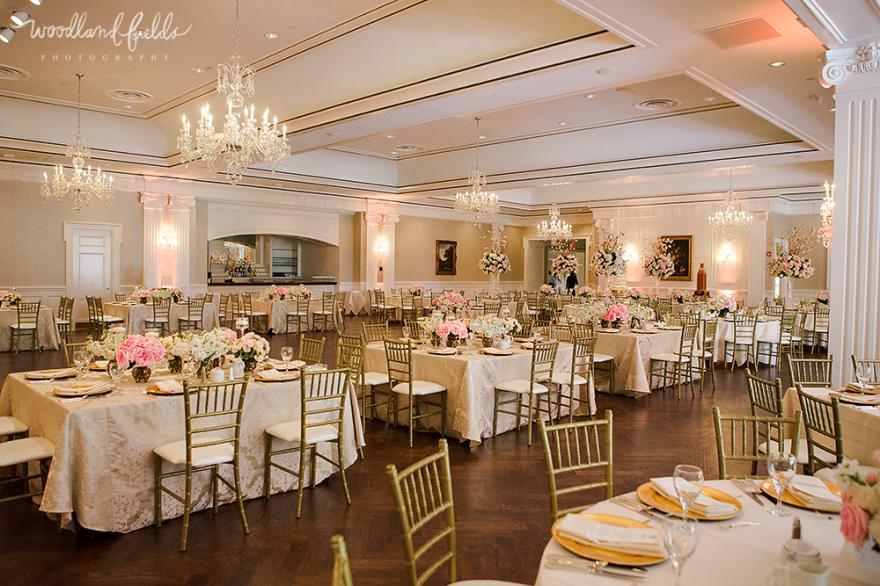 Woodland Fields Photography Lakeside Country Club Houston Wedding Photographer Indoor Reception Chivari Chairs