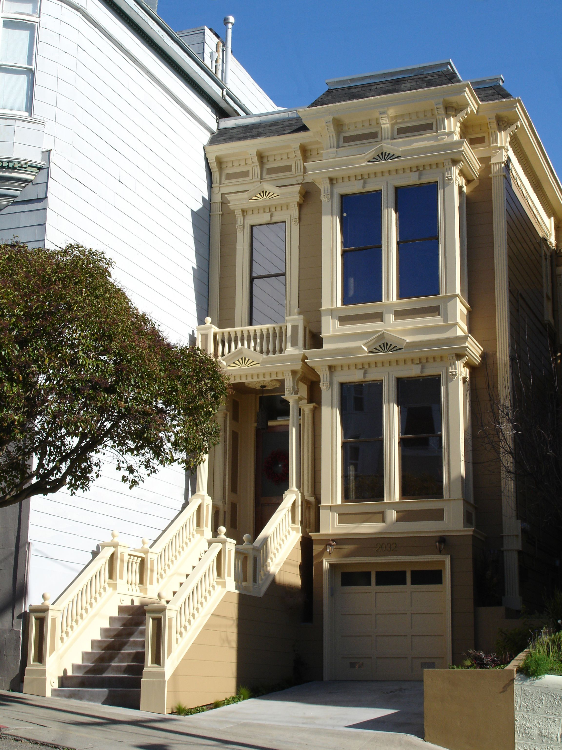 Exterior San Francisco Victorian Townhouse Designed