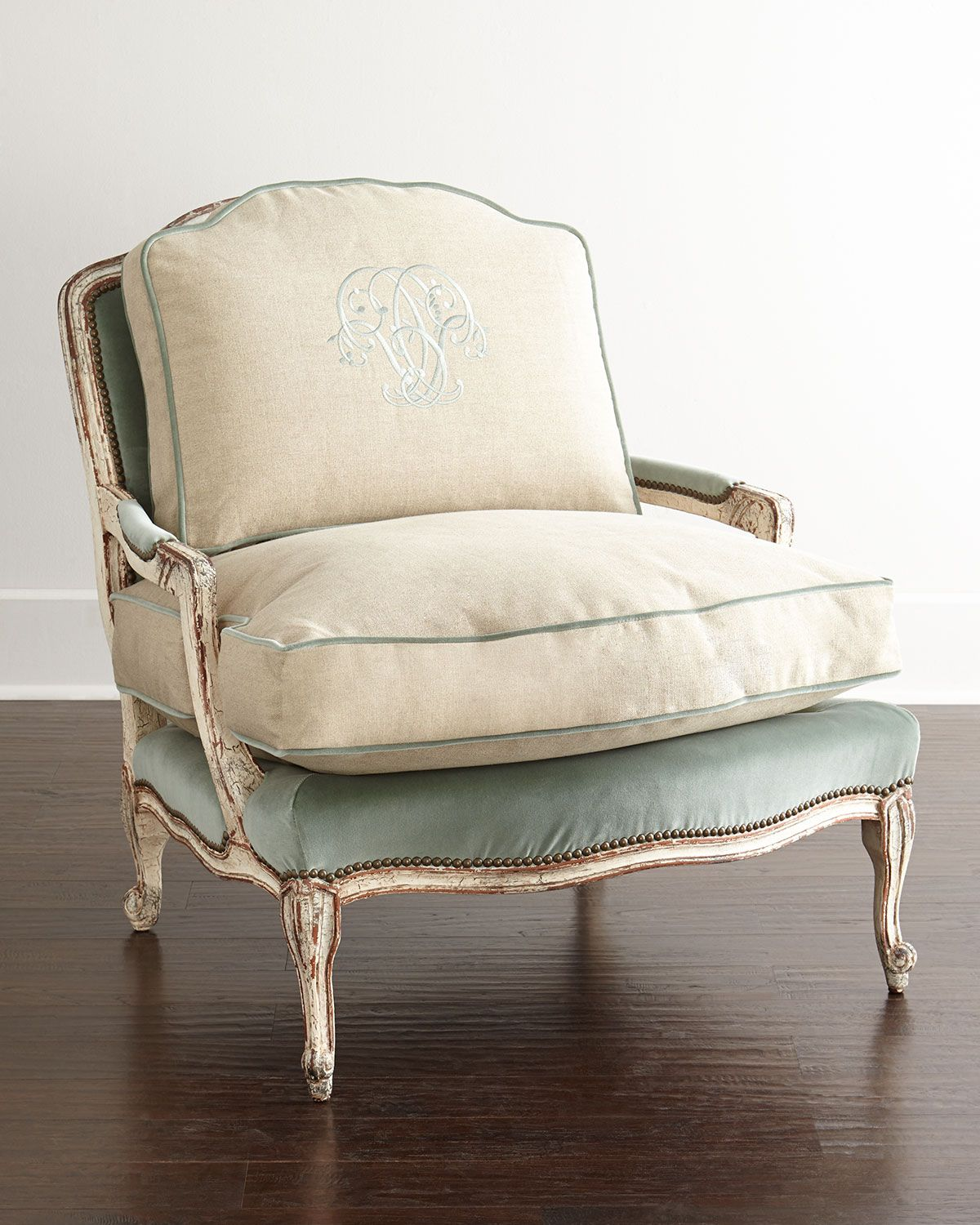 Old Hickory Tannery Misty Bergere Chair Fabulous
