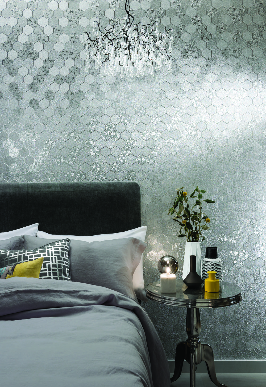 Foil Silver in 2020 Bathroom wallpaper trends