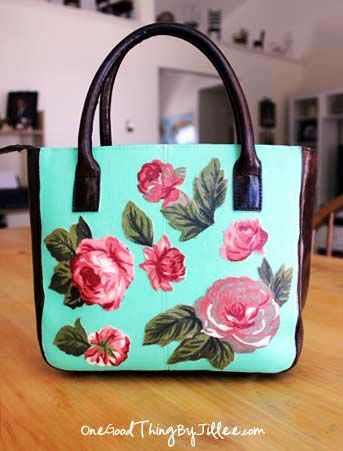 Make your own one,of,a,kind decoupage handbag!
