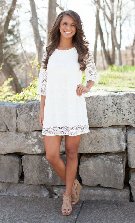 State of Grace White Dress - The Pink Lily Boutique