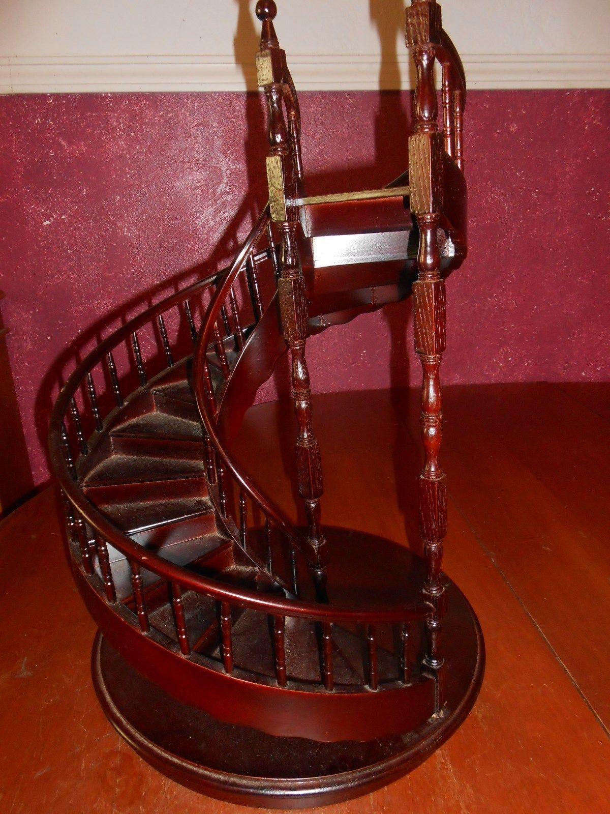Best Wooden Spiral Staircase For Display Ebay Spiral 640 x 480