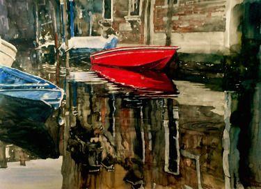 """Saatchi Online Artist Paul Dmoch; Painting, """" Rio del Panada à Venise, Italie"""" #art"""