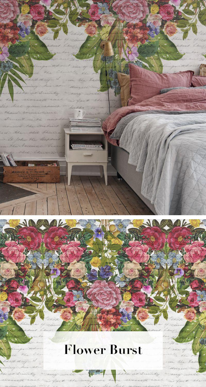 Flower Burst In 2019 Trend Tapetenkollektion Flora Maxima Wall