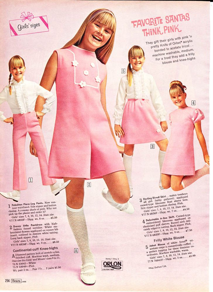 Think Pink! 1968 Sears Wish Book 256 | Little Miss 1960\'s ...