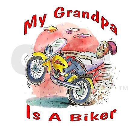 Grandpa Biker Bib on CafePress.com