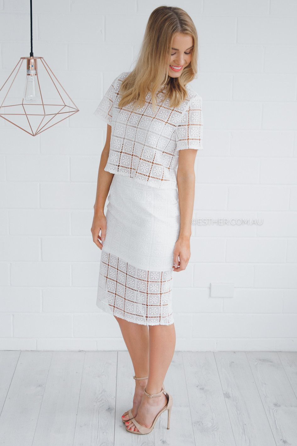 fia lace two piece - white | Esther clothing Australia and America USA, boutique online ladies fashion store, shop global womens wear worldwide, designer womenswear, prom dresses, skirts, jackets, leggings, tights, leather shoes, accessories, fast shipping world wide. – Esther Boutique