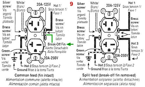 US dual voltage 1520A wiring scheme shop wiring Pinterest