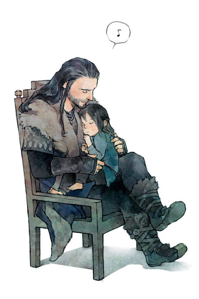 """Imagine Thorin singing lullabies for his nephews."" <---OW. My heart. It hurts. ;_;  *SOB*"