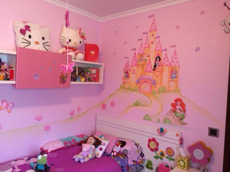 Castillo de princesas para habitacion infantil murales for Decoracion de cuartos para ninas grandes