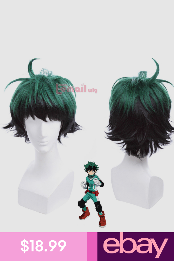Bnha Deku Izuku Midoriya Green Short Hair Cosplay Wigs Anime Wig Izuku Midoriya Wig Black Cosplay Wig Wigs